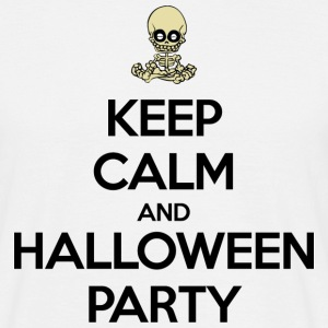 Keep Calm and Halloween Party Camisetas - Camiseta hombre