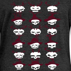 deerskull Hoodies & Sweatshirts - Women's Boat Neck Long Sleeve Top