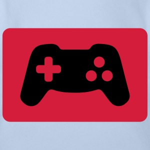 Gamepad, Controller, Gamer Shirts - Organic Short-sleeved Baby Bodysuit