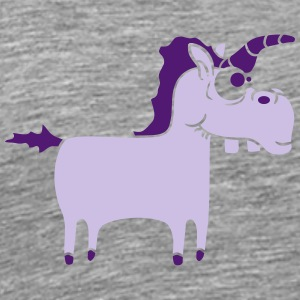 Silly Funny Crazy Purple Unicorn T-Shirts - Men's Premium T-Shirt