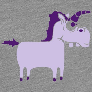 Silly Funny Crazy Purple Unicorn T-Shirts - Women's Premium T-Shirt