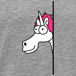 Funny Cartoon Cartoon Unicorn Szalony Koszulki - Koszulka męska Premium
