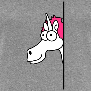 Funny Cartoon Cartoon Unicorn Szalony Koszulki - Koszulka damska Premium