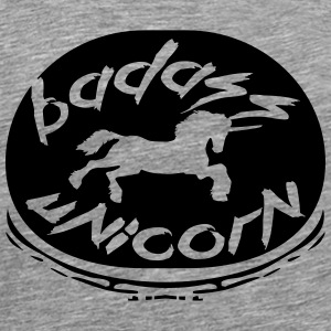 Badass Unicorn Graffiti Design T-Shirts - Men's Premium T-Shirt