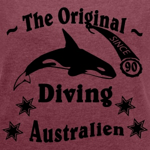 DIVING ORIGINAL Australien T-Shirts - Frauen T-Shirt mit gerollten Ärmeln