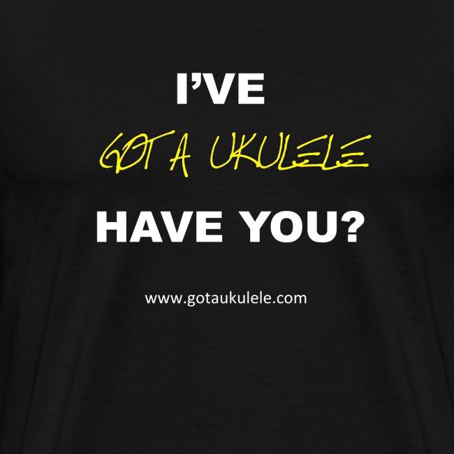 Got A Ukulele new logo t shirt
