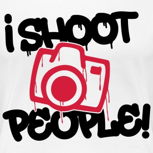 I shoot people - Photography Tee shirts - T-shirt Premium Femme