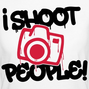 I shoot people - Photography T-shirts - Ekologisk T-shirt dam