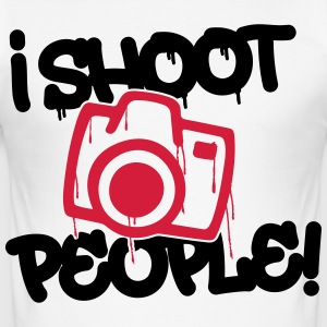 I shoot people - Photography T-Shirts - Männer Slim Fit T-Shirt