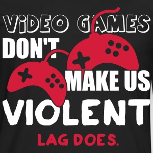 Video games don't make us violent. Lag does Långärmade T-shirts - Långärmad premium-T-shirt herr