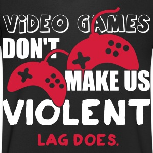 Video games don't make us violent. Lag does Tee shirts - T-shirt Homme col V