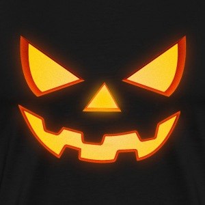 Scary Halloween Horror Pumpkin Face T-Shirts - Men's Premium T-Shirt