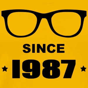 Geek since 1987 - Herre premium T-shirt
