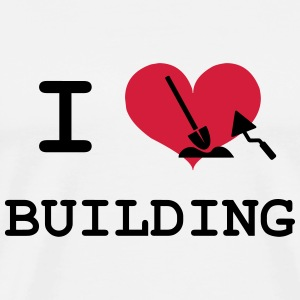 I Love Building T-shirts - Herre premium T-shirt