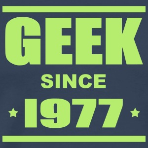 Geek since 1977 - Herre premium T-shirt