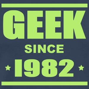 Geek since 1982 - Premium-T-shirt herr