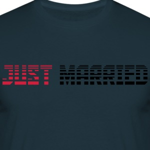 Just Married tekst logodesign T-shirts - Herre-T-shirt