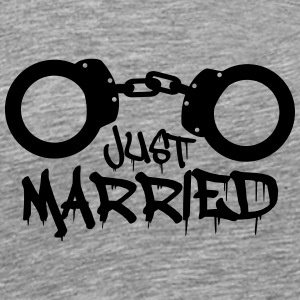 Just married handcuffed prisoner funny T-Shirts - Men's Premium T-Shirt