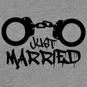 Just married handcuffed prisoner funny T-Shirts - Women's Premium T-Shirt
