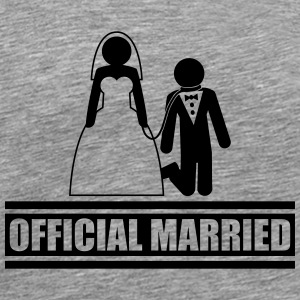 Official Married Caught short leash funny T-Shirts - Men's Premium T-Shirt