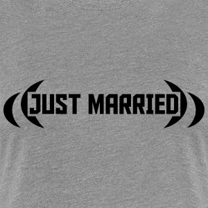 Just Married Design Koszulki - Koszulka damska Premium