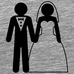 Wedding couple couples husband wife love T-Shirts - Men's Premium T-Shirt