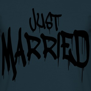 Graffiti married Just logotyp lustig T-shirts - T-shirt herr
