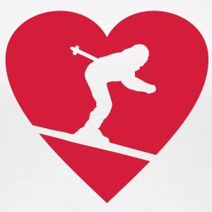 I love Skiing (D) einfarbig