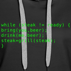 While steak not ready Pullover & Hoodies - Frauen Premium Hoodie