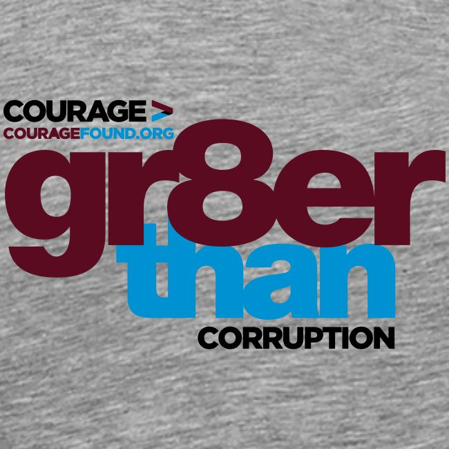 gr8er than corruption Men's T-Shirt