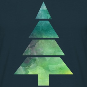 Christmas Tree Watercolor T-Shirts - Männer T-Shirt