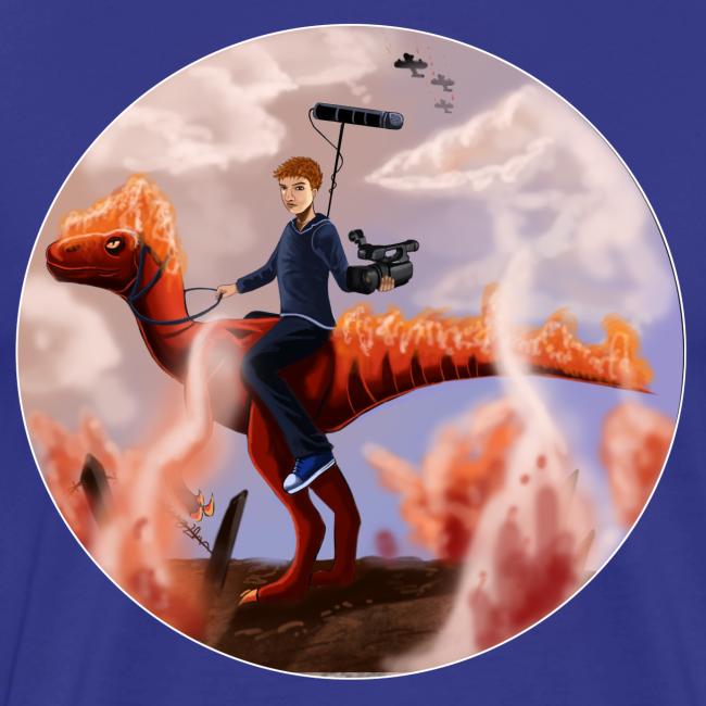 Flammende Dino (unisex)