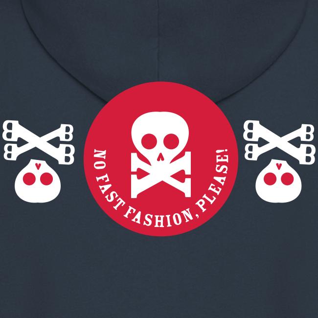 no fast fashion, please!, skulls, männer kapuzenjacke