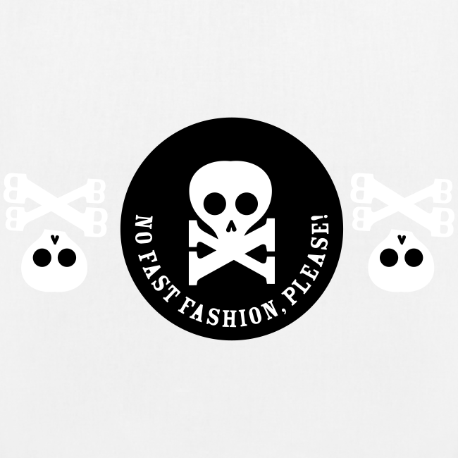 bio-stoffbeutel, no fast fashion, please! skulls