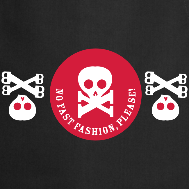 schürze, no fast fashion, please! skulls