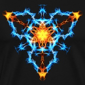 Flame, fractal, energy, power, chi, shield, hero T - Men's Premium T-Shirt