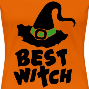 Best Witch, Witchcraft, Halloween, Magic, Hat T-Sh - Frauen Premium T-Shirt