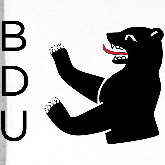 Kapuzenpulli - black logo
