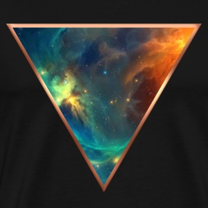 Cosmos, universe, space, galactic triangle T-Shirts - Men's Premium T-Shirt