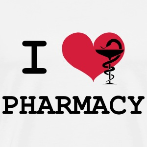 I Love Pharmacy T-skjorter - Premium T-skjorte for menn