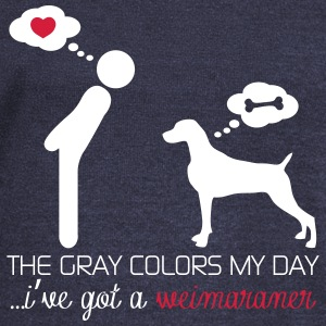 The gray colors my day...I've got a Weimaraner Felpe - Felpa con scollo a barca da donna, marca Bella