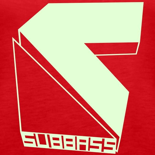 Subbass Girlie Shirt ohne Ärmel Glow in Dark!