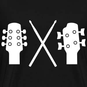 Guitar, Bass and Drums Tee shirts - T-shirt Premium Homme