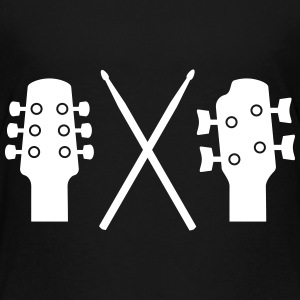 Guitar, Bass and Drums T-shirts - Premium-T-shirt barn