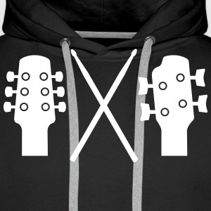 Guitar, Bass and Drums Pullover & Hoodies - Männer Premium Hoodie