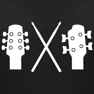 Guitar, Bass and Drums T-shirts - Vrouwen T-shirt met V-hals