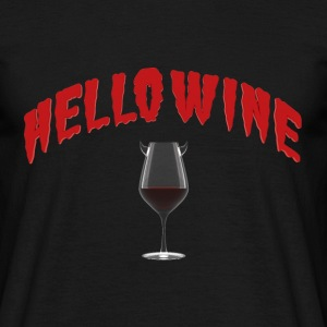Hello Wine - A Halloween Treat - Men's T-Shirt