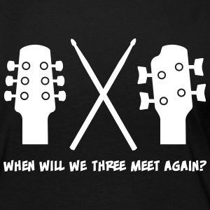 When will Guitar, Bass and Drums meet again? Langærmede T-shirts - Dame premium T-shirt med lange ærmer