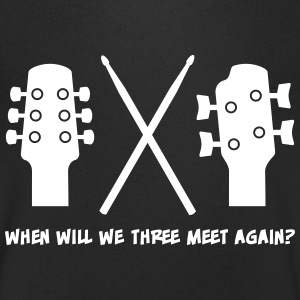 When will Guitar, Bass and Drums meet again? T-shirts - T-shirt med v-ringning herr