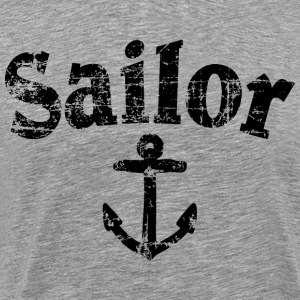 Sailor Anchor Vintage Sailing Design T-Shirts - Men's Premium T-Shirt